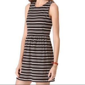 Madewell   Striped Black & White Mini Dress